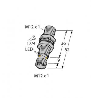 BI6U-MT12-AP6X-H1141 Индуктивный датчик