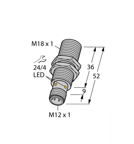 BI8-M18-AN6X-H1141 Индуктивный датчик