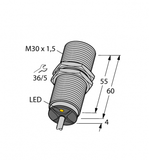 BI15-M30-VP6X Индуктивный датчик Turck