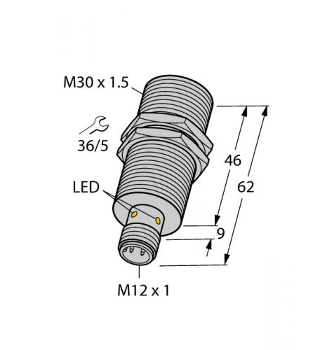 BI15U-EM30-AP6X-H1141 Индуктивный датчик