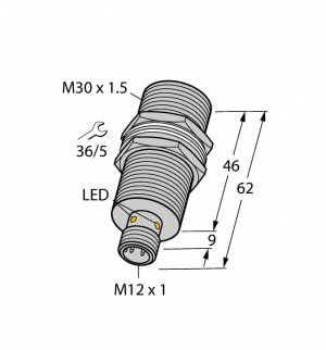 BI10U-MT30-AN6X-H1141 Индуктивный датчик