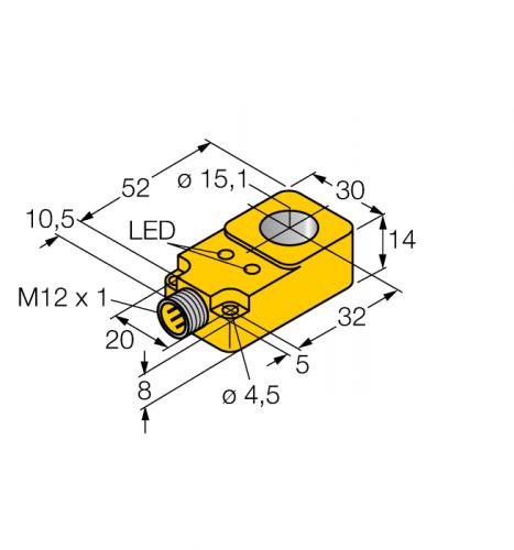 BI15R-Q14-AP6X2-H1141 индуктивный датчик