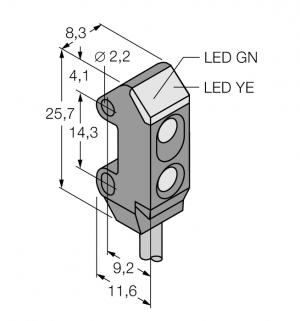 VS1AN5CV10Q Фотоэлектрический датчик