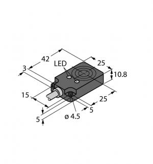 BI8U-Q10-AP6X2 Индуктивный датчик Turck