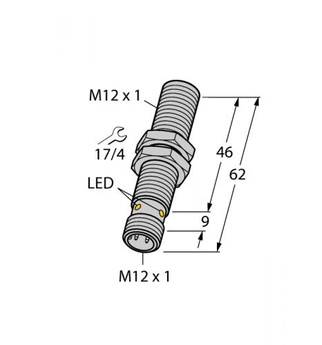 BI3U-MT12E-VP4X-H1141 Индуктивный датчик Turck