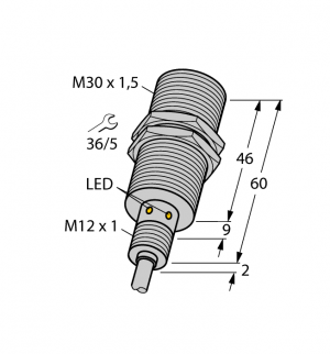 BI15U-EM30WD-AP6X Индуктивный датчик