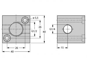 FCI-1/2-1/4-1/4-A4 Монтажный кронштейн