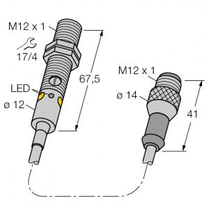 M12PLVQ5 Фотоэлектрический датчик