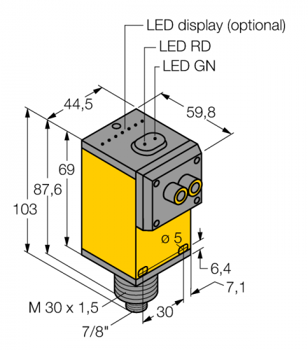 Q45VR2FPQ Фотоэлектрический датчик