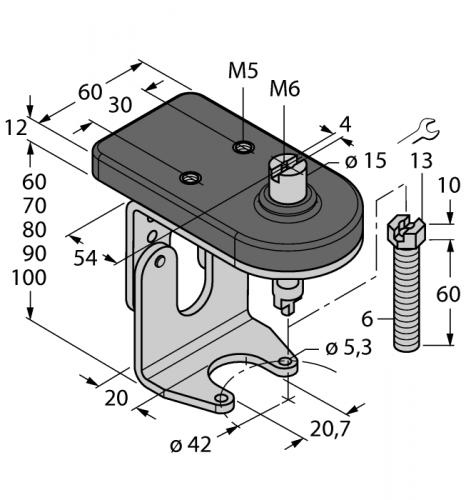BTS-DSU35-ZF04-M6 Монтажный комплект для ручных клапанов