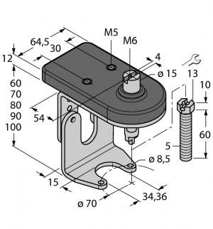 BTS-DSU35-ZF07-M5 Монтажный комплект для ручных клапанов