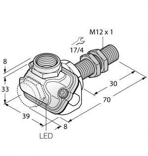 BI2-EM12WDTC-Y1X Индуктивный датчик Turck