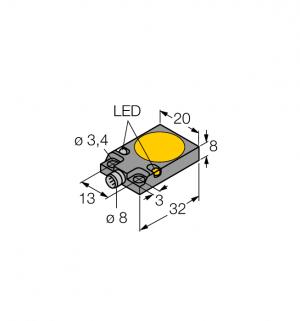 BI7-Q08-VP6X2-V1141 Индуктивный датчик