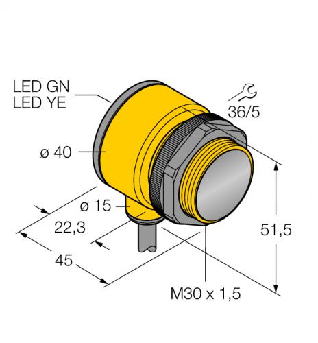 T30SP6FF400 Фотоэлектрический датчик