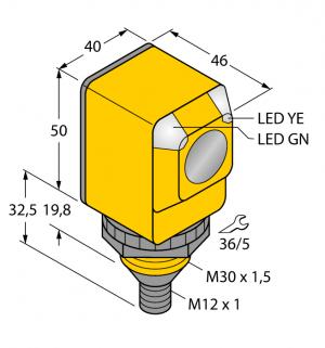 Q40SP6RQ Фотоэлектрический датчик