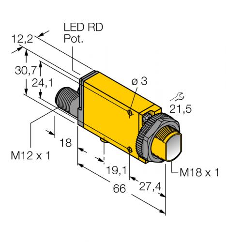MIAD9DQ Фотоэлектрический датчик