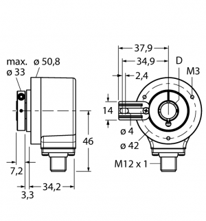 REI-12H10T-2B2500-H1181 Инкрементальный энкодер