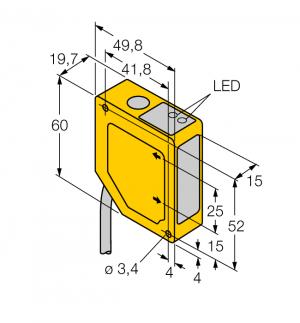 Q50BVN W/30 Фотоэлектрический датчик