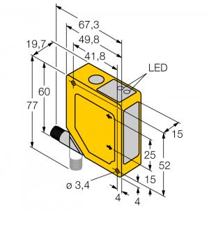 Q50BNYQ Фотоэлектрический датчик