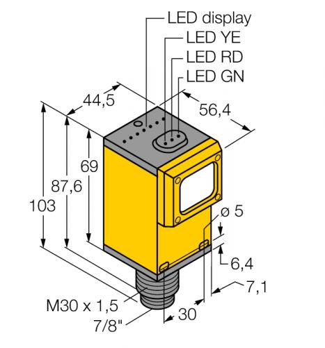Q45BB6RQ Фотоэлектрический датчик Turck