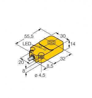 BI10-Q14-AP45X2LD Индуктивный датчик