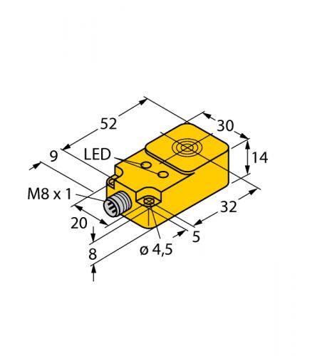 BI10-Q14-AP68X2LD-V1131 Индуктивный датчик