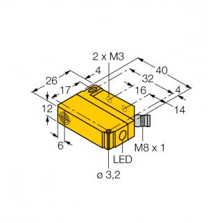 BI5U-Q12-AN6X2-V1131 Индуктивный датчик