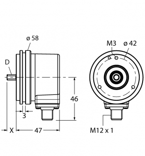 REI-10SA1S-2B3600-H1181 Инкрементальный энкодер