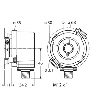 REI-E-114I10E-2B1024-H1181 Инкрементальный энкодер