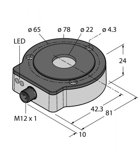 RI360P0-EQR24M0-INCRX2-H1181 Бесконтактный энкодер в корпусе из нерж. стали