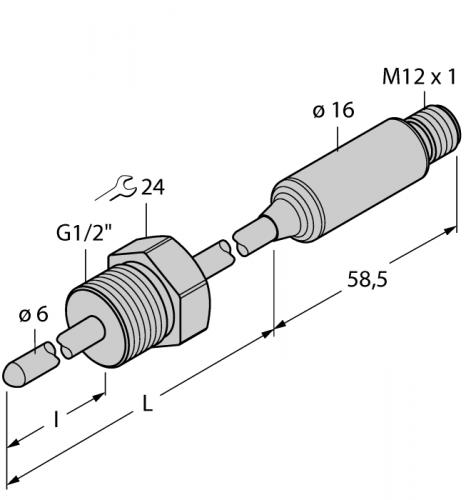 TTMS-206A-G1/2-LI6-H1140-L550/I500-0/500 Детектирование температуры