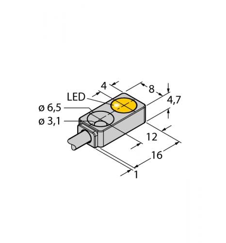 BI2-Q4.7-AN6X Индуктивный датчик