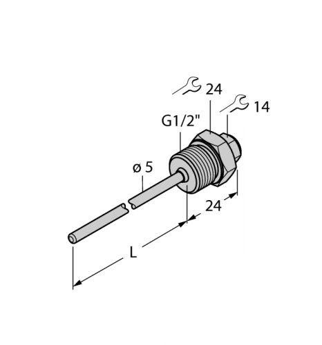 THW-3-G1/2-A4-L050 Гильза для термосопротивлений