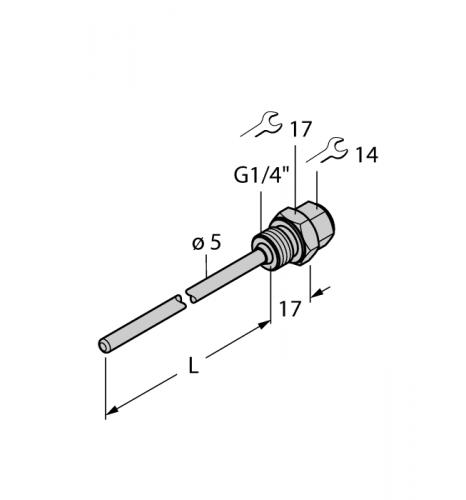 THW-3-G1/4-A4-L050 Гильза для термосопротивлений