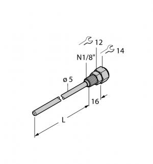 THW-3-N1/8-A4-L100 Гильза для термосопротивлений