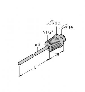 THW-3-N1/2-A4-L050 Гильза для термосопротивлений