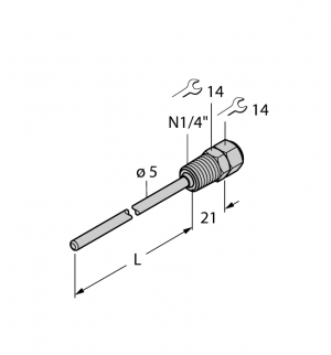 THW-3-N1/4-A4-L075 Гильза для термосопротивлений