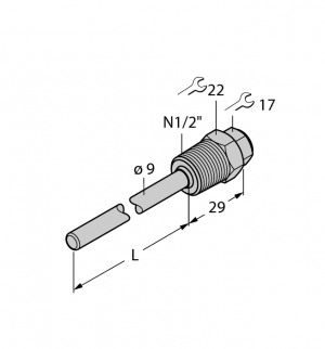 THW-6-N1/2-A4-L200 Гильза для термосопротивлений
