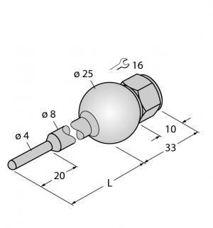 THW-3-UNI25-A4-L100 Гильза для термосопротивлений