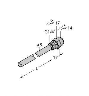 THW-6-G1/4-A4-L100 Гильза для термосопротивлений