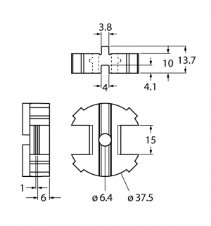 BTS-DSC26-UR10 Проставка для актуатора