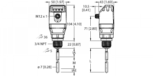 LS-534-0200-LIU24PN8X-H1181 Датчик уровня