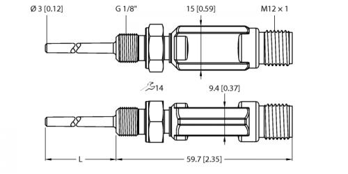 TTM100C-103A-G1/8-LI6-H1140-L024 Детектирование температуры
