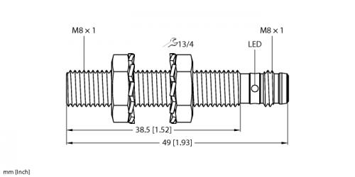 BI2-EG08-AN6X-V1131 Индуктивный датчик