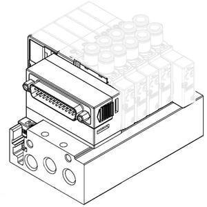 SS5Y5-52, Блок серии 5000, 25-контактный разъем (D-sub), плоский шлейф, плата коммутационной системы (IP40)