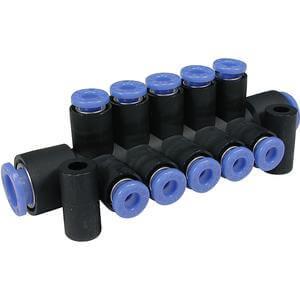 KM11, Коллектор быстроразъемных соединений - порт A быстроразъемное соединение, порт B быстроразъемное соединение