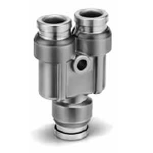 KQB2U-00, Металлическое быстроразъемное соединение, разветвитель