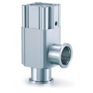 XLA-2, Алюминиевый угловой клапан для высокого вакуума, Н.З., сильфонное уплотнение