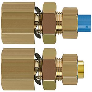 KFE, Соединение с накидной гайкой для панельного монтажа