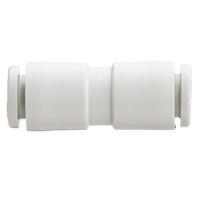 KQ2H*-00, Быстроразъемное соединение белого цвета, муфта прямая